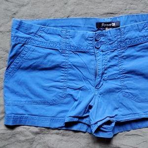 F21 Bright Blue Shorts Size 30